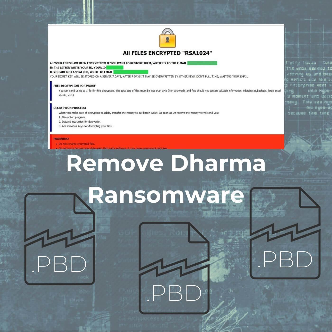 remove pbd virus restore pbd files sensorstechforum removal guide
