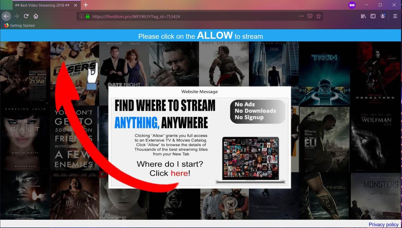 stop Fiterdiloin.pro redirect ads remove undesired programs sensorstechforum