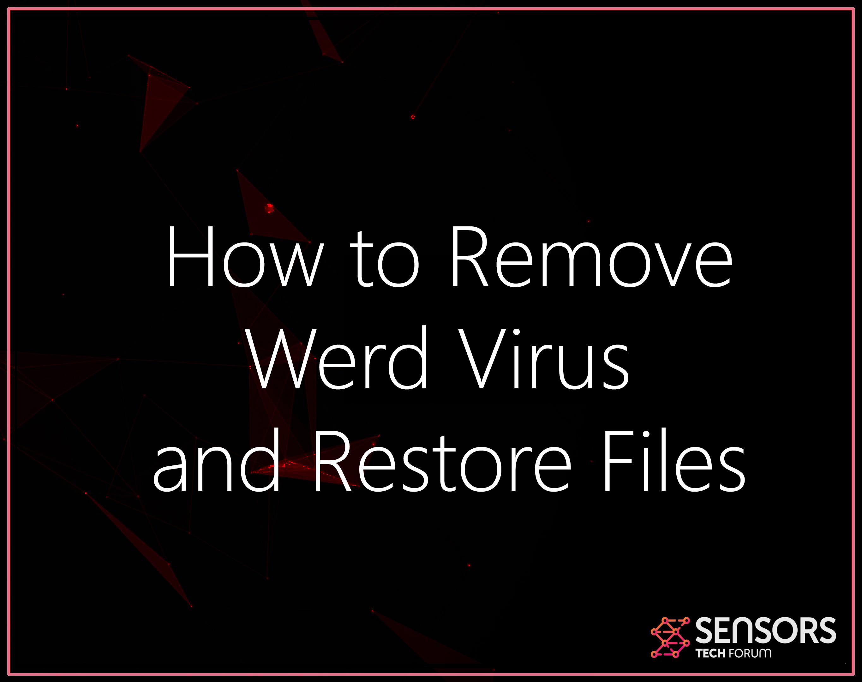 Werd-virus ransomware-files-rimuovere-restore-dati