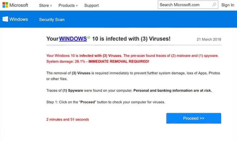 your windows is infected with 3 viruses scam message removal guide sensorstechforum