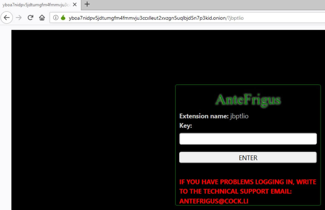 stf-jbptlio-virus-file-antefrigus-ransom-instructions-tor-page