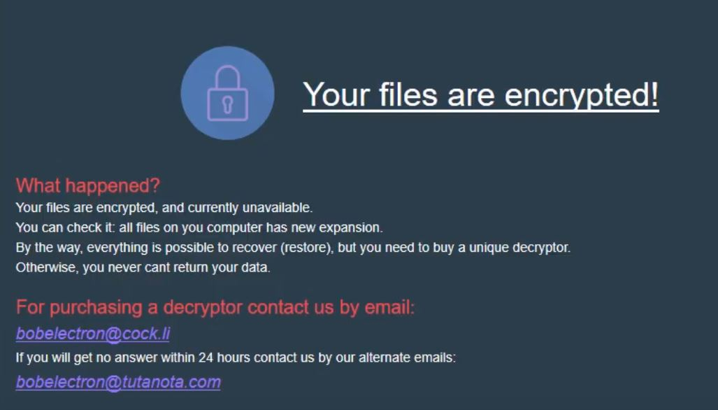 stf-Bob Electron-virus-file-globeimposter-ransomware