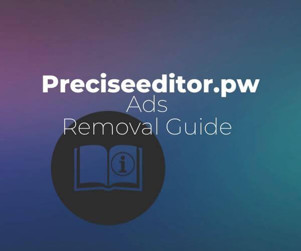 remove Preciseeditor.pw ads from mac sensorstechforum