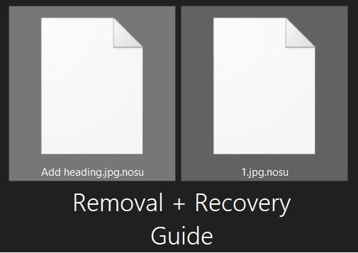 remove nosu virus restore nosu files