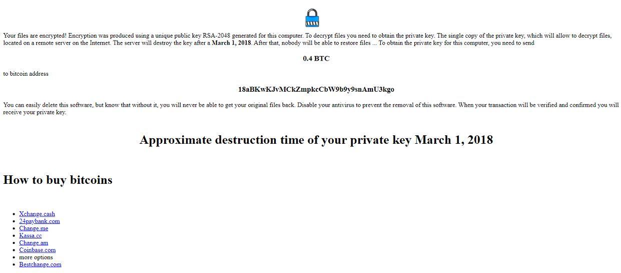 Nodera Ransomware virus remove