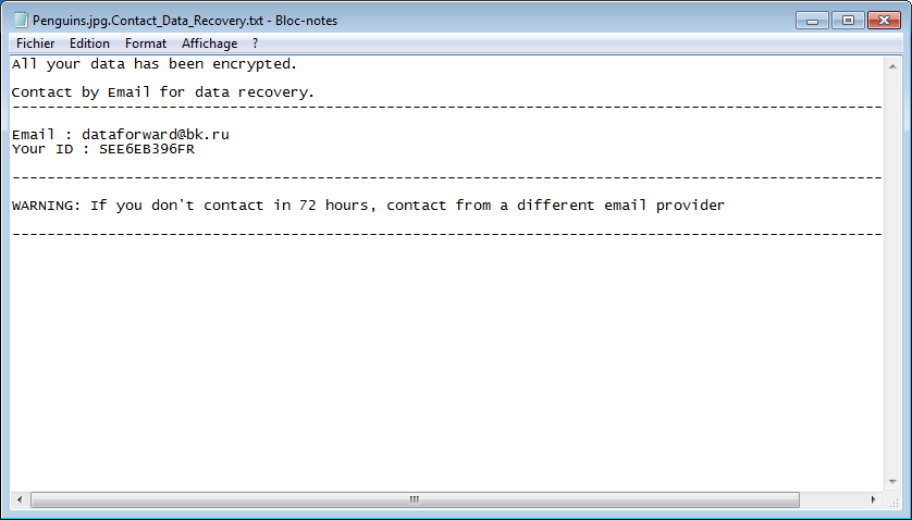 ransom message .missing virus files stf