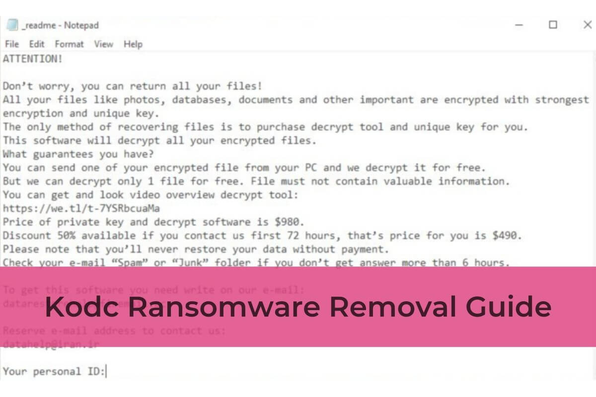 fjerne kodc virus ransomware STF