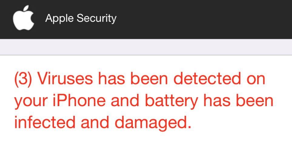 æble sikkerhed 3 virus er blevet opdaget på din iphone fidus fjernelse