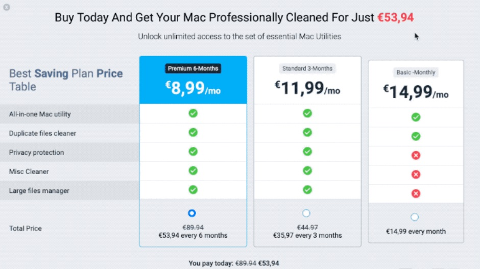 easy mac care rogue system optimizer price table