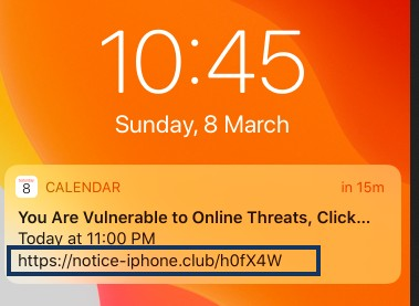 notification calendаr iphone virus image