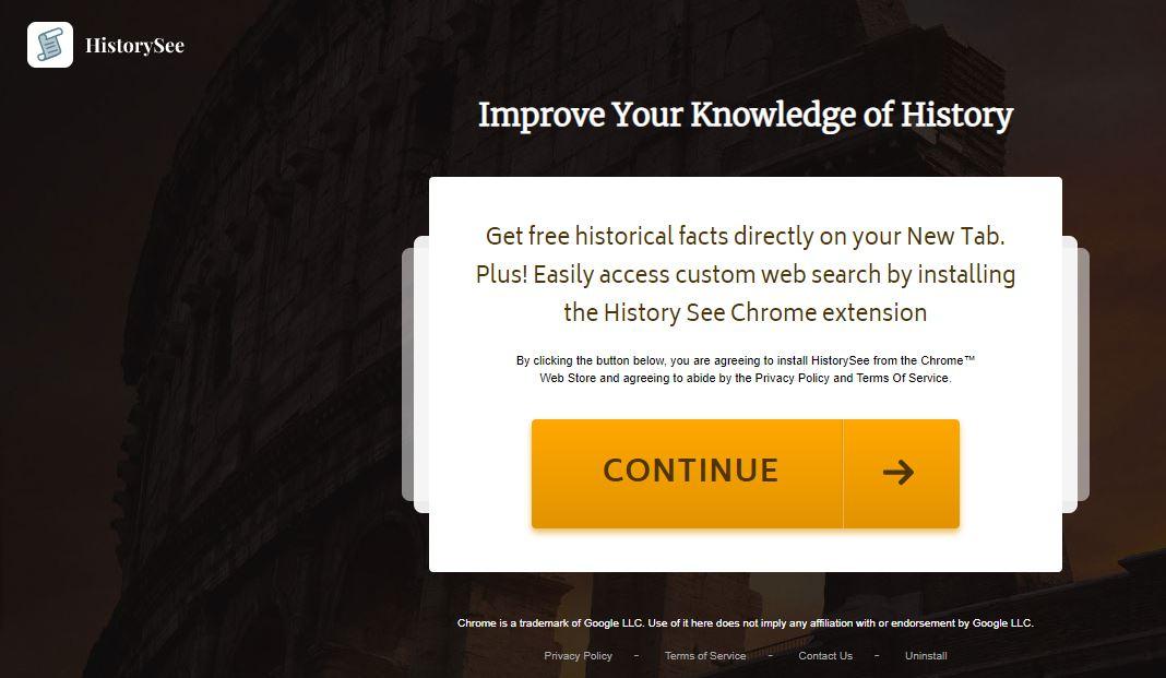 HistorySee redirect image