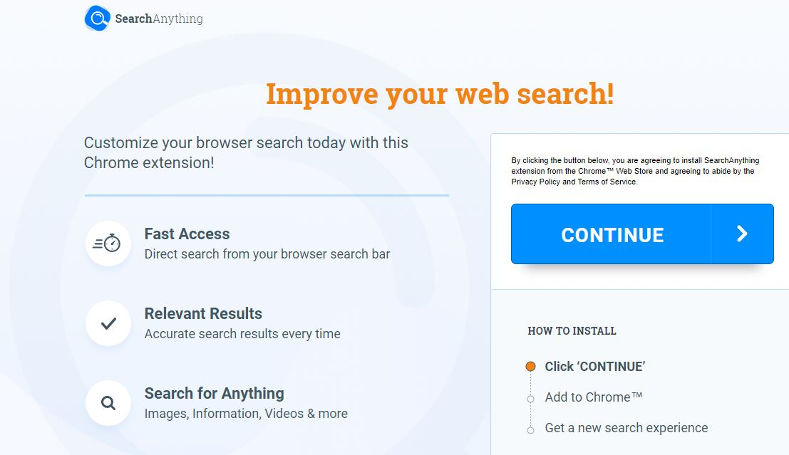 Search Anything redirect image