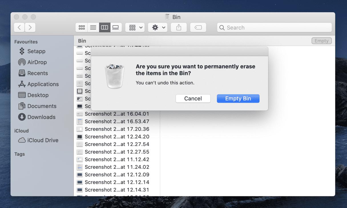 empty-trash-on-mac-remove-startup-disk-full-error