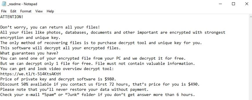 foop virus ransom note ransomware removal guide