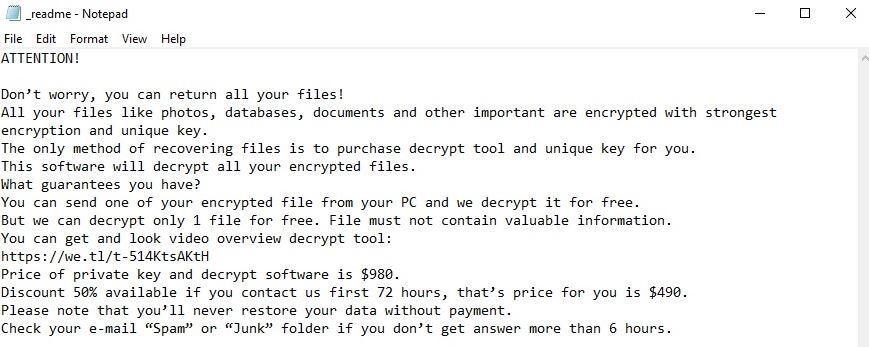 guia de remoção de ransomware vírus foop Nota de resgate