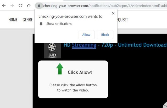 Checking-your-browser.com redirect image