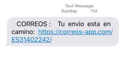 Correos phishing scam