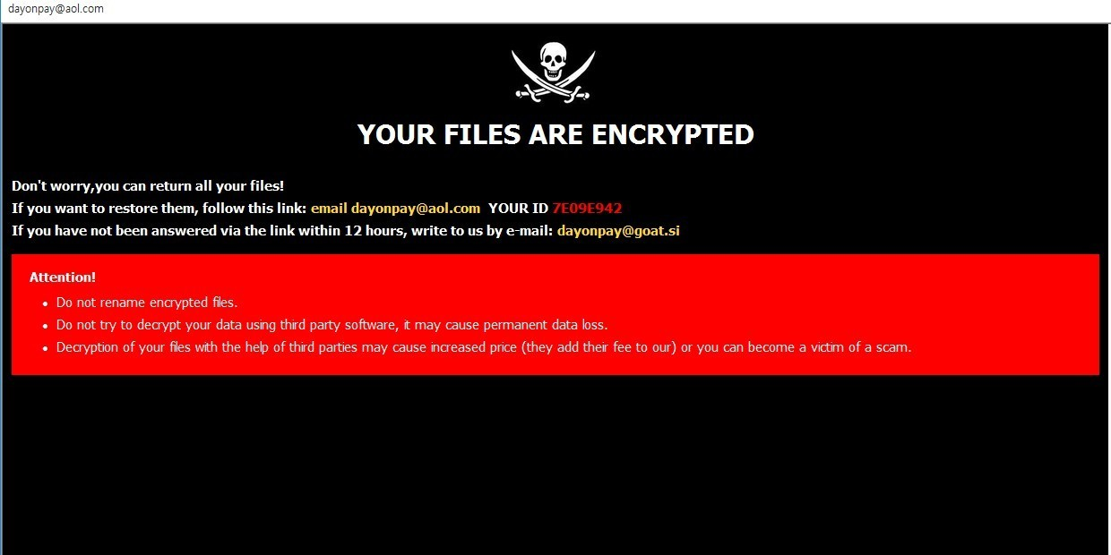 .DOP virus file ransom note