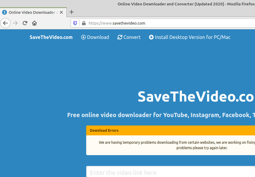 savethevideo.com redirect image