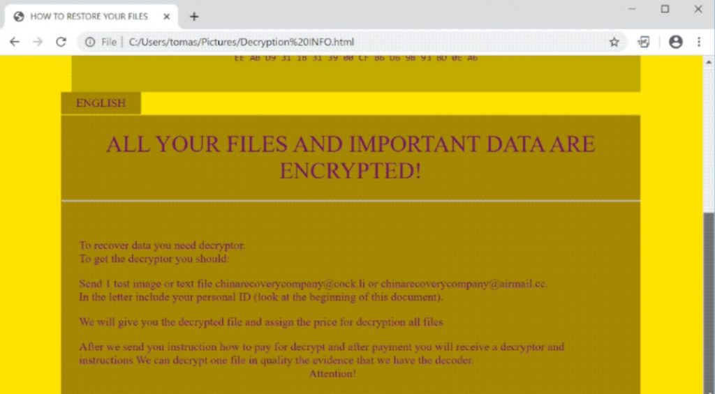 c4h ransomware message virus removal guide
