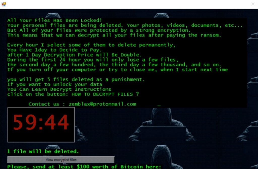 ElvisPresley ransomware pop-up message