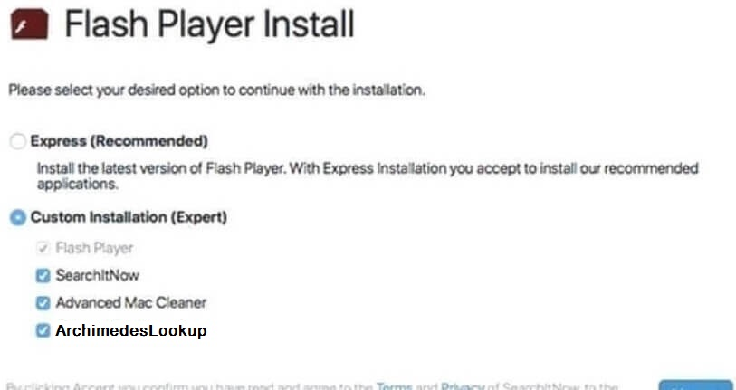STF-ArchimedesLookup-adware-falsk-flash-player-setup