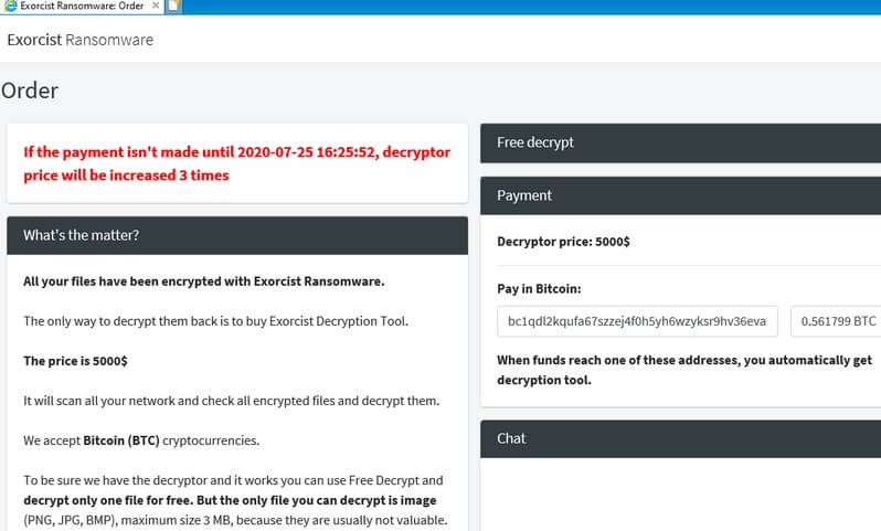 stf-Exorcist-ransomware-decryption-page