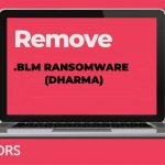 blm virus Dharma ransomware image