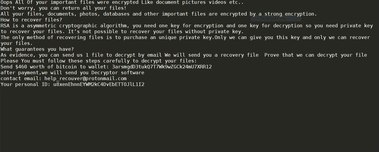 ransom note of .lockdown virus  ransomware