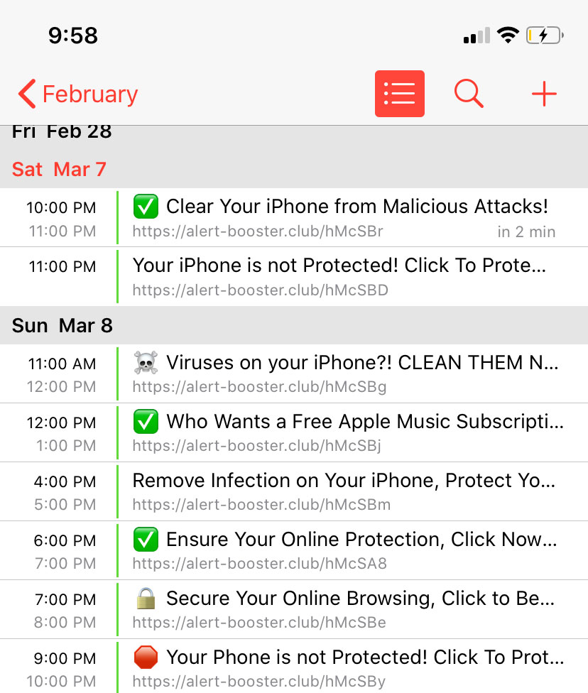 iphone kalender virus alert.booster.club site
