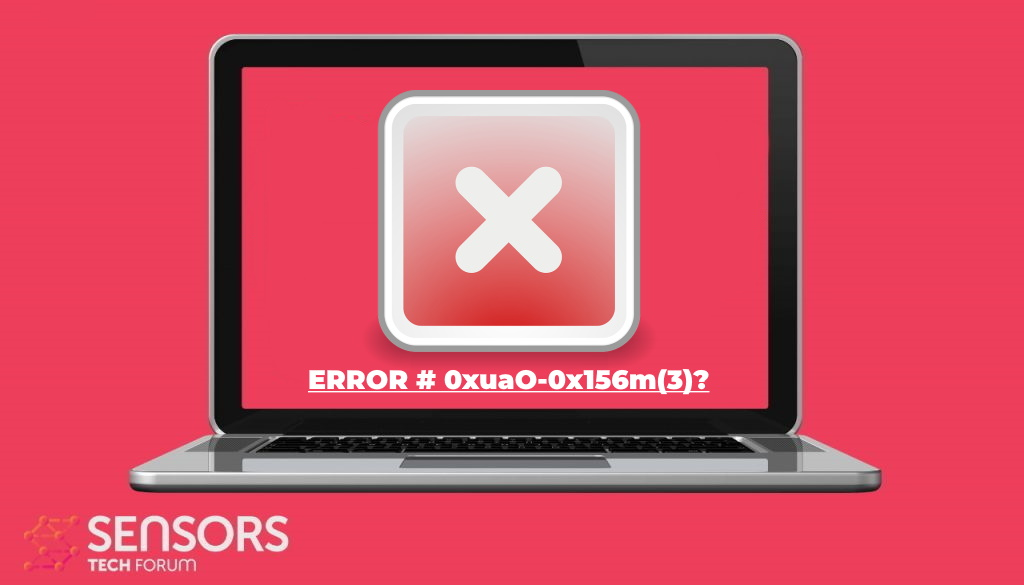 remove ERROR # 0xuaO-0x156m(3) security warning scam sensorstechforum