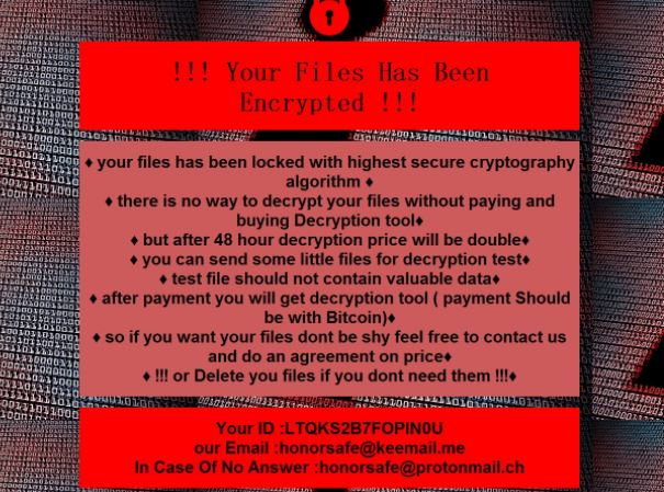 VoidCrypt honor virus image