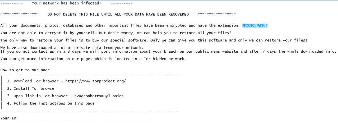 stf-.bcBDBbAEDb-virus-fil-avaddon-ransomware-note