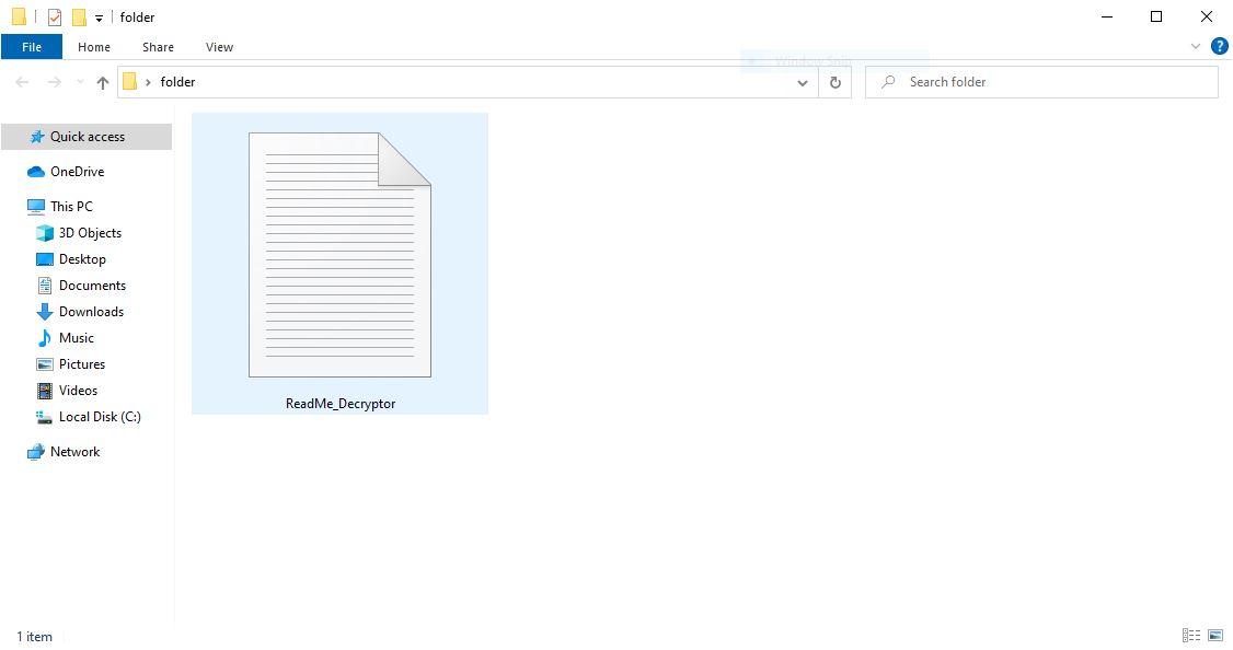 ransom note of .termit virus DCRTR ransomware