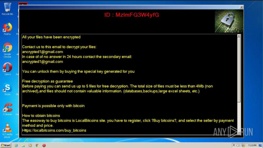 AMJIXIUS virus ransom note pop-up window