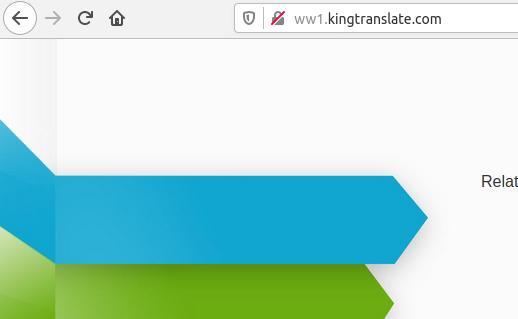 King Translate Redirect Virus