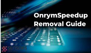 Guia de remoção de OnrymSpeedup