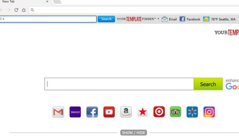 YourTemplateFinder Toolbar Redirect Virus