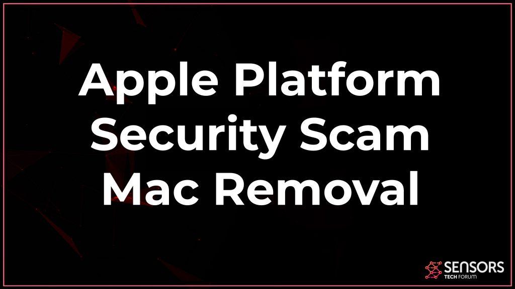 Apple Platform Security Scam Mac Removal