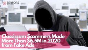 Classiscam-Betrüger haben mehr als 6,5 Millionen US-Dollar verdient 2020 vom Fake Ads-sensorstechforum