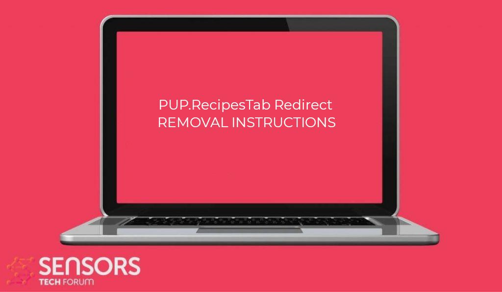PUP.RecipesTab Redirect Virus