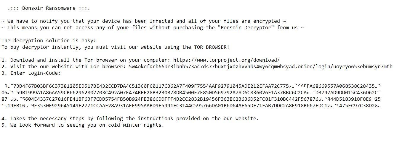 stf Bonsoir file virus ransomware note