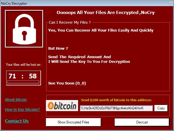 bitcoin ir ransomware