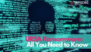 URSA ransomware encrypted code