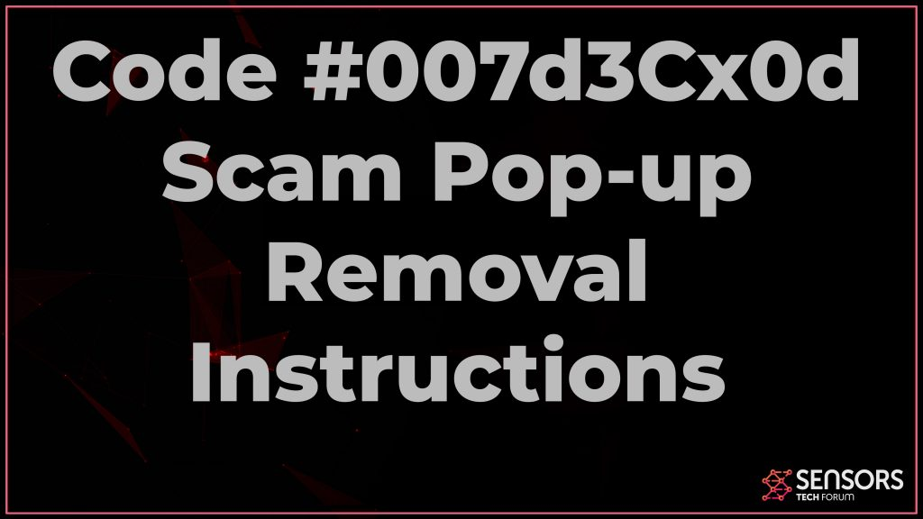 Code #007d3Cx0d Scam Pop-up