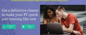 PC CURE PRO homepage