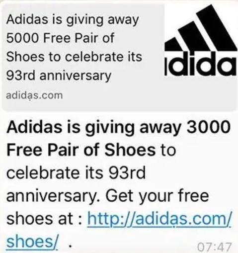 adidas scam site