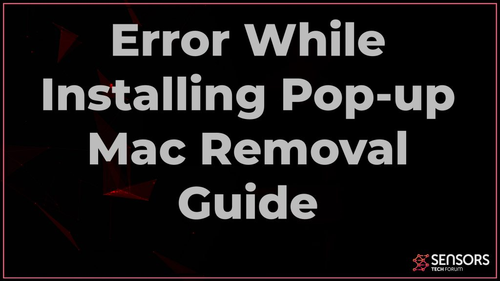 Error While Installing pop-up mac