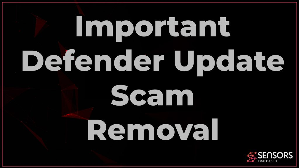 Important Defender Update Scam