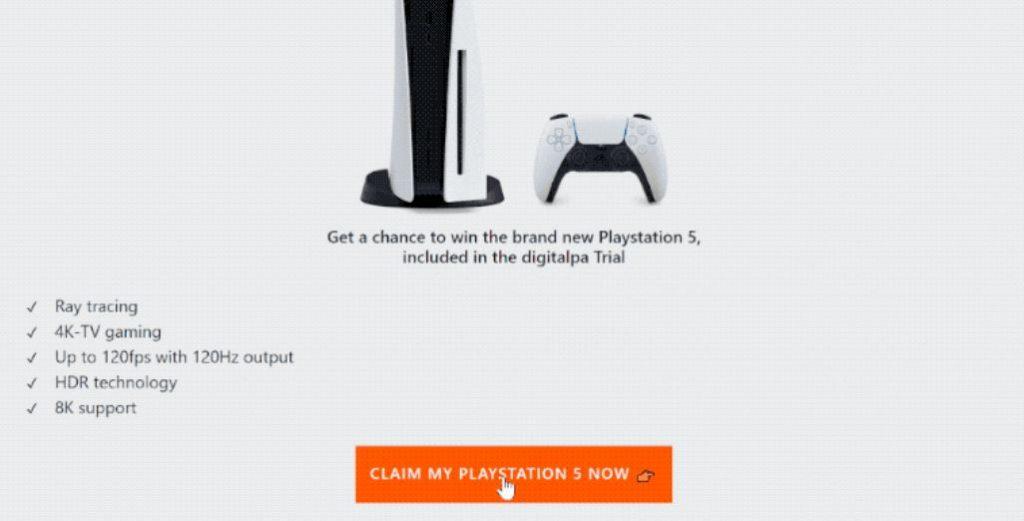 Oportunidade de ganhar o novíssimo Playstation 5 Golpe
